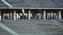 Berlin 1982: people visiting the Olympiastadion Stock Footage