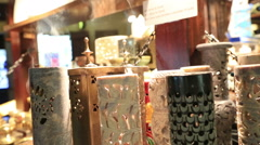 Incense and sandalwood. Stock Footage