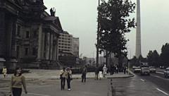 East Berlin 1982: people walking in front of Berliner Dom Stock Footage