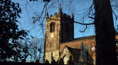 Country Church in Cheshire Stock Footage
