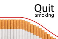 Stock Illustration of quit smoking text graph cigarettes