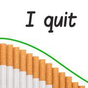 Quit smoking text graph cigarettes Stock Illustration
