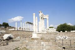 Bergama Acropolis, Turkey - stock photo
