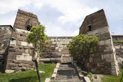 Ankara Castle enterance Stock Photos