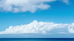 Time lapse of clouds over the Caribbean tropical sea. 4K-2160 - stock footage