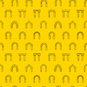 Vector background for architecture. Arches - stock illustration