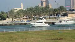 The Dubai Marina, Untied Arab Emirates Stock Footage