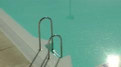 Swimming pool ladder Stock Footage