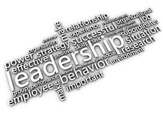 White leadership and related words - stock illustration