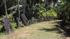 Ancient Stone Money on Micronesian Island of Yap Stock Footage