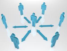 People Communication blue Stock Illustration
