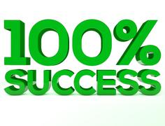 Stock Illustration of 100 Succes green