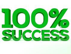 100 Succes green - stock illustration