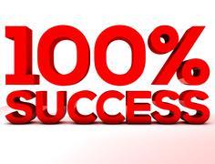 Red 100 Success - stock illustration
