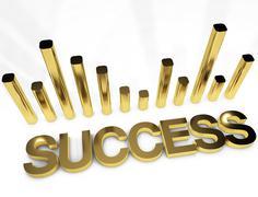 Gold Success Stock Illustration