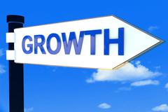 Growth road direction sign Stock Illustration