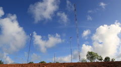Blue Sky on Micronesian Island of Yap Stock Footage