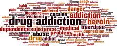 Drug addiction word cloud Stock Illustration