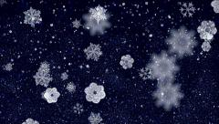 Dreamlike snow. Magical winter evening Stock Footage