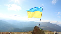 Flag Ukraine Stock Footage