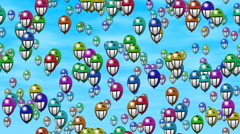 Grin smiling balloons generated seamless loop video Stock Footage