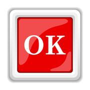 Stock Illustration of ok icon. internet button on white background..