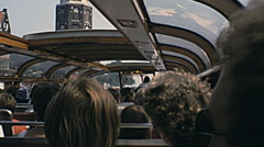 Amsterdam 1980: inside a sightseeing boat on the canals - stock footage