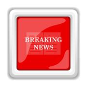Breaking news icon. internet button on white background.. Stock Illustration