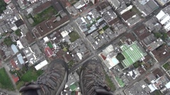 Flight and glide over a city center Stock Footage