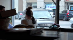 Lawrence Coffee Shop People 1 Stock Footage
