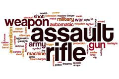 Stock Illustration of assault rifle word cloud