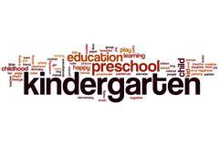 Kindergarten word cloud Stock Illustration