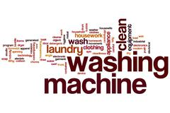 Washing machine word cloud Stock Illustration
