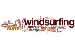 Windsurfing word cloud Stock Illustration