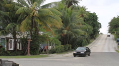 A local road on Micronesian Island of Yap Stock Footage