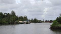 Beautiful channel on Micronesian Island of Yap Stock Footage
