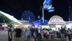 TL TX State Fair Night-Midway Stock Footage