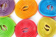 licorice wheels - stock photo