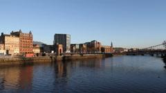 South Portland Street Bridge Glasgow Scotland Stock Footage