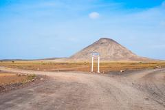 road to buracona in sal island cape verde cabo verde - stock photo