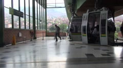 Stock Video Footage of people boarding cable car