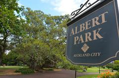 Albert park - auckland new zealand Stock Photos