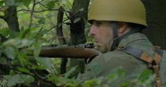German soldier ambush 08 Stock Footage