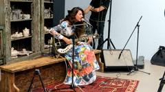 Music show, Mercedes Benz Kiev Fashion Days 2015  in Kiev, Ukraine. Stock Footage