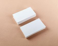 Two stacks of business cards Stock Photos