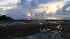 Coastal Sunset on Micronesian Island of Yap Stock Footage