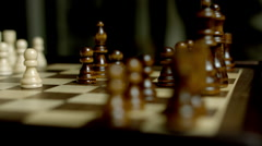 Chess Came Close Up Stock Footage