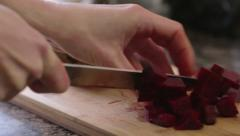 Choping Beets Stock Footage