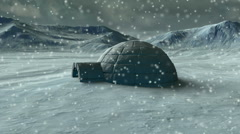 Arctic Igloo Stock Footage