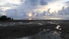 Stunning Sunset on Micronesian Island of Yap Stock Footage